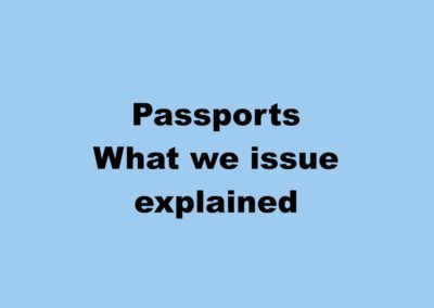 Passports – what we issue and their relevance