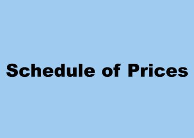 Schedule of Prices