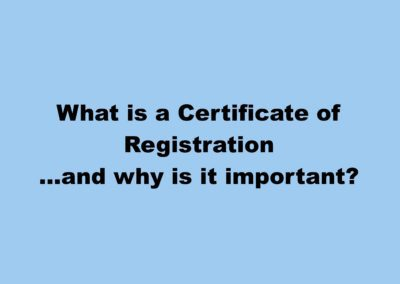 What is a Certificate of Registration