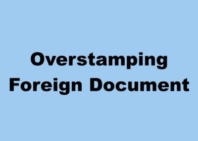Overstamping Foreign ID
