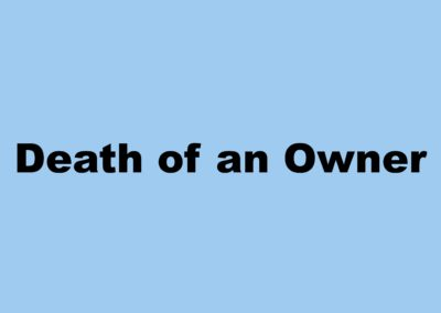 Death of Owner