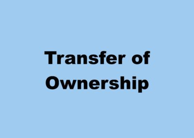 Transfers of Ownership